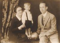 Zdeněk Hříbal with His Parents