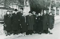 Zdeněk Hříbal (the 3rd from the left) with His Family (1955)