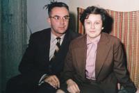 Zdeněk Hříbal with His Wife Anna (1963)