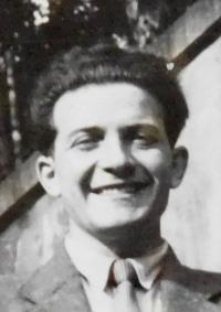 Jiří Fišer as a young man. Probably in 1957