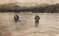 Makarska with mother - 1934 III.