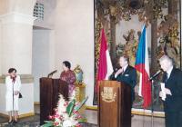 Mrs. Dubovská translates speech from the President of Indonesia I. - 2002
