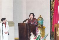 Mrs. Dubovská translates speech from the President of Indonesia II. - 2002