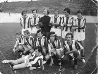 Team of foreign students in 1971 in Krakow. Tadeusz Wantuła as a goalkeeper