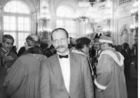 Tadeusz Wantuła during the inauguration of Václav Havel in February 1993