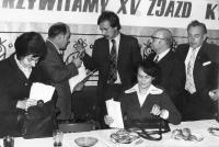 Tadeusz Wantuła in 1976 in a meeting of PZKO (Polish Cultural and Educational Union) in Český Těšín