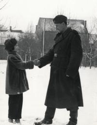 Helena with her father around 1955