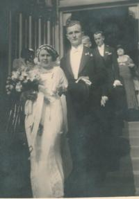 Wedding of the witness´s parents, St Ludmila Prague Vinohrady, 1932