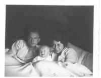 Parents with Hana, their newly born daughter, Prague, 1935