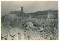 Kralupy after the air raid, March 1945