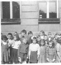 First teaching post, 3rd class in Cheb, 1954