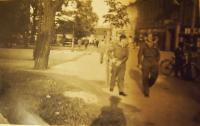 American soldiers in Pilsen, 1945