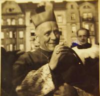Cardinal Josef Beran in Pilsen, 1947