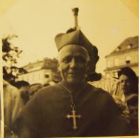 Cardinal Josef Beran in Pilsen