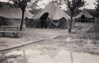 U.S. Army tents, Pilsen - Bory, 1945