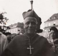 Cardinal Beran in Pilsen, 4.10.1947