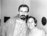 Doina Cornea together with her son, Leontin Iuhas