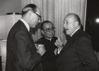 From the left: Ludvík Armbruster, Fr S. Širajanagi, the Austrian ambassador, Tokyo, 1982