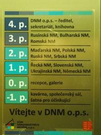 Panel výtahu v DNM