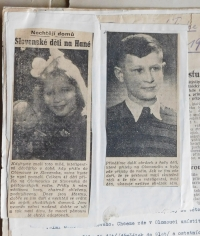 Articles in newspapers about children from Death Valley at the Dukla Pass, which thanks Květoslava Bartoňová in 1946, arrived in Olomouc