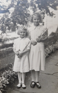 Two of the forty-two children from Death Valley at the Dukla Pass, which Květoslava Barton arranged stay in Olomouc in the years 1946 -47