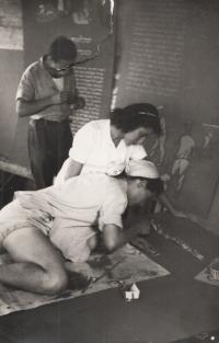 Příprava výstavy 1950