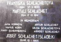 Pamětní deska rodiny Schlachetových