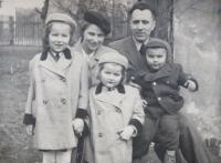 Family Kajnakova- parents Joseph and Margaret and the children of Mary, Joseph and Ludmila