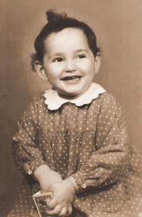 Růžena as 2 years old girl, 1939