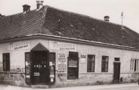House of Róna family in Hlohovec, 1945