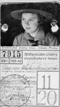 Dagmar Prochazkova, nee Weitzenbauerova as a Scout