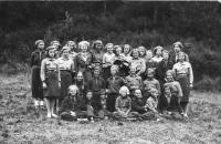 Scouts in 1938, Dagmar Weitznebauerova, 2.row from below, 2. from left
