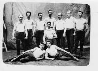 Sokol members from Prague - Mala Strana, Vaclav Weitzenbauer in the middle, TG Masaryk  is one of men above.