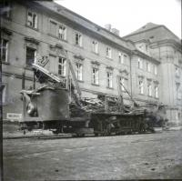 Tram No.20 after the bombings 02.12 1945 by D. Weitzenbauerova,  that day she did not go home by this tram