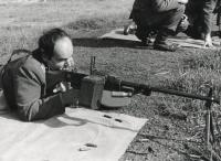 Josef Nitra Taking Part in Military Training (1980s)