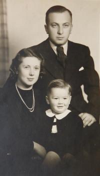 The Ruprecht family - parents Alois and Věra and son Jiří