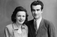 Robert's mather and father, Nové Zámky 1947