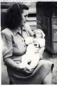 With mum, Nové Zámky 1948