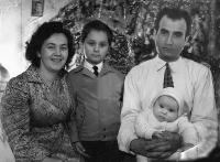 Mother, father, Erika and Robert, at Christmas in Nové Zámky in 1957