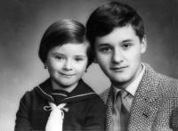 With sister Erika, Nové Zámky 1960