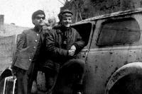 Robert and his friend Richard, Šturovo 1966