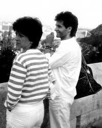 Budapest - Robert and his sister Erika 1985