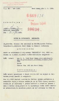 Investigation folder of Robert Vano, p. 2