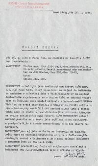 Investigation folder of Robert Vano, p. 10