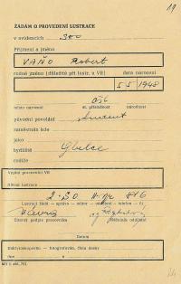 Investigation folder of Robert Vano, p. 18