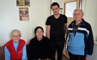 From the left: Olga Mauleová, Eva Armeanová, Luděk Jirka, husband Olgy Mauleové