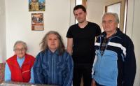 From the left: Olga Mauleová, Stanislav Pítr, Luděk Jirka, husband Olgy Mauleové