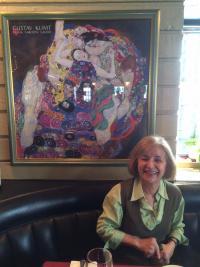 Milena in an Italian restaurant, Vancouver 2016