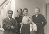The Krajina family in front of the newly bought house, Vancouver 1955