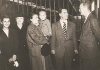 The Krajina family after the arrival in Vancouver 1949 welcomed by prof. Wort, the colleague of prof. Krajina.